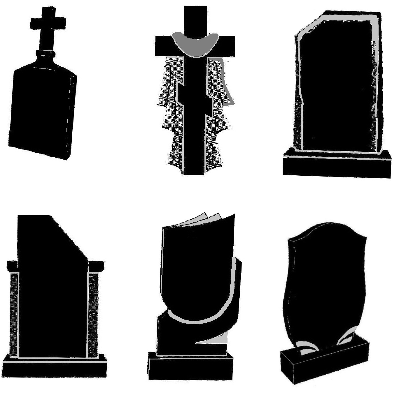 nadgrobija-kresty-tombstones- crosses